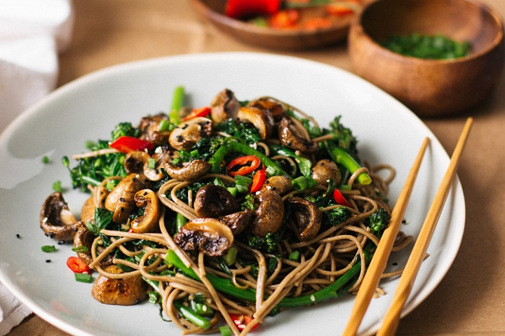 Рецепт лапша с грибами